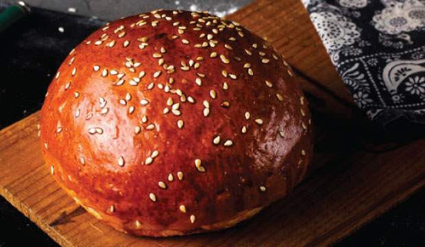 This is an image of the burger rolls available from The Bagel Co, Rose Bay.