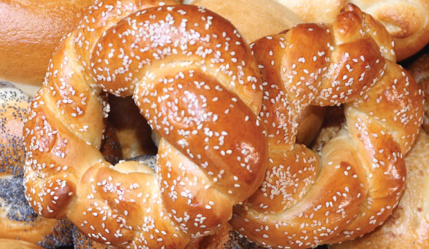 Image of the Challah-Bagels which are available from The Bagel co in Rose Bay