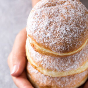 Every bite out of these delicious, freshly-made doughnuts is filled with sweet jam and make you feel like a kid again