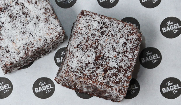 Image of The Bagel Co. delicious Lamingtons... soft and tasty.