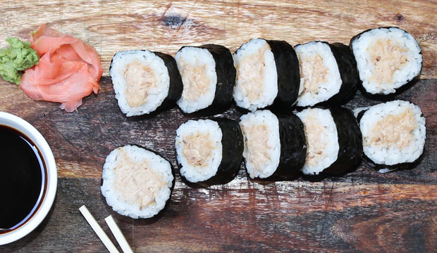 Tuna Sushi available online and instore at The Bagel Co Rose Bay