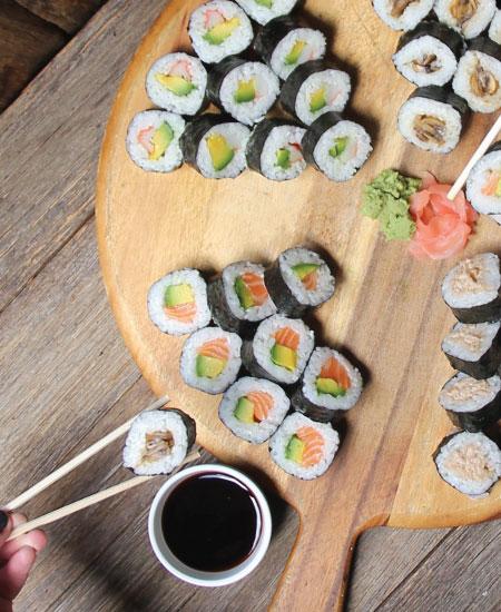 Sushi menu online order from The Bagel Co Rose Bay