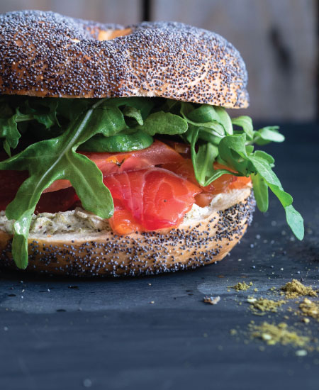 This is an image for the Filled bagels category on The Bagel co food menu in Rose Bay.