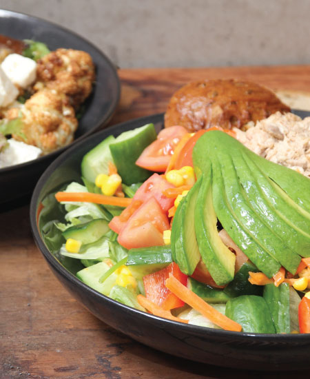 Salads available online and instore at The Bagel Co Rose Bay