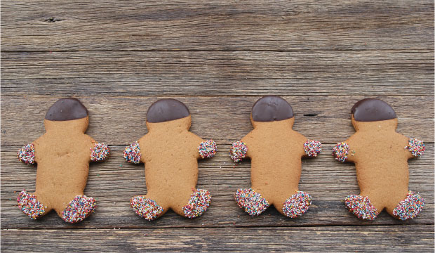 Ginger bread cookies available online and instore at The Bagel Co Rose Bay